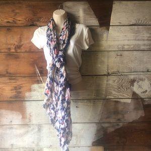GAP Accessories - 3/$25 Sale! Gap Blue Pink Beige Scarf with Fringe